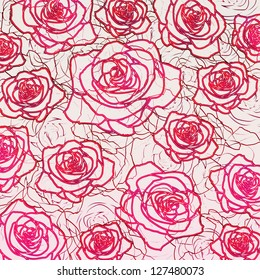 Outline rose background