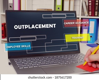 outplacement  career guidance training employee skills inscription on the page.