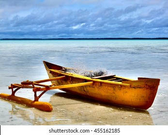 Outrigger canoe, South Tarawa, Kiribati