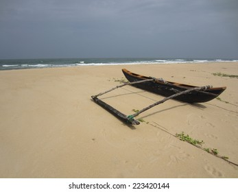 Outrigger on the beach