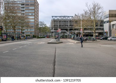 Outside The Amstelveen Bus Station At The Netherlands 2019
