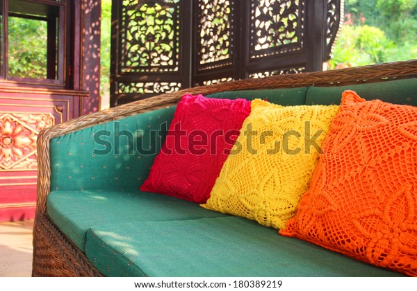 outside asian style interior