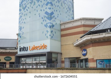 Outside of intu Lakeside Shopping Centre. West Thurrock, Essex, England - 14th March 2020