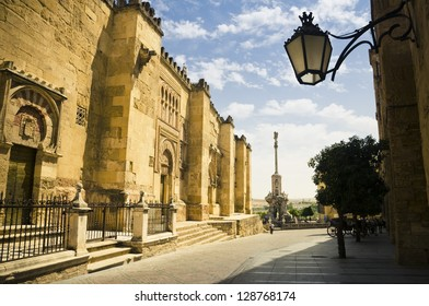 Outside the mosque in Cordoba, Spain