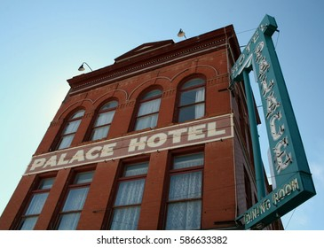 Outside the Palace Hotel in Cripple Creek, Colorado