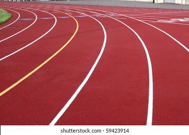 outside running track
