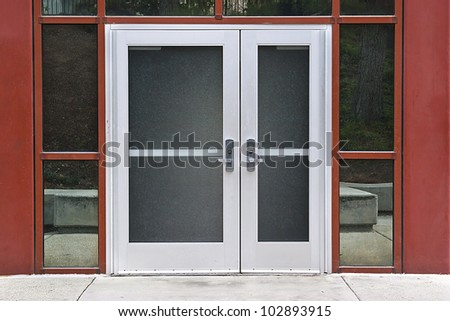 Outside Solid Glass Door Building Exterior Stock Photo Edit Now