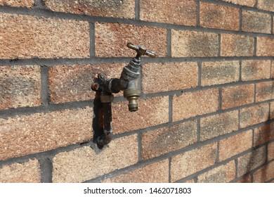Outside tap brickwork home renovations
