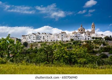 Outside view of Locorotondo, Puglia, Italy