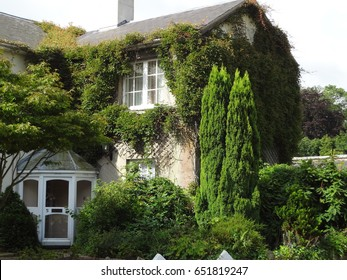 Outside view of an old and historic bed and breakfast in West Sussex, England, United Kingdom.