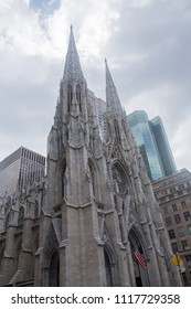 Outside view of Saint Patrick's cathedral
