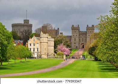 Outside view of Windsor castle near London, UK