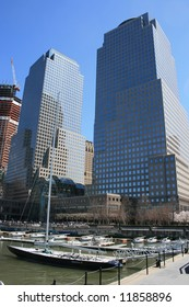 Outside of the World Financial Center in Lower Manhattan (near Ground Zero).