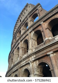 Outsite of Colosseum in Rome, Italy