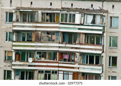 outskirts house balcony, Moscow, Russia