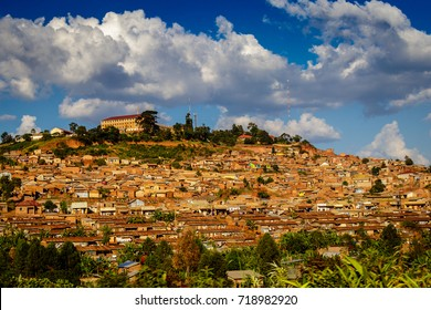 Outskirts of Kampala build on of the seven hills that are a symbol of the capital of Uganda