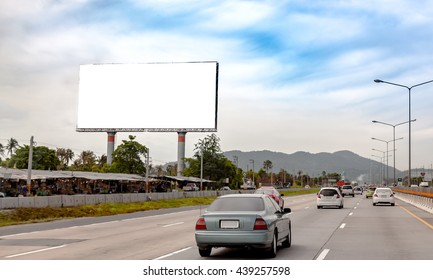 Outstanding advertising billboard at the sideways of public road