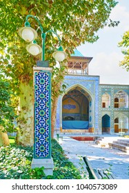 The outstanding architecture of Chaharbagh madraseh, also famous as Four Gardens madraseh, looks even more beautiful from its green and lush garden, Isfahan, Iran.