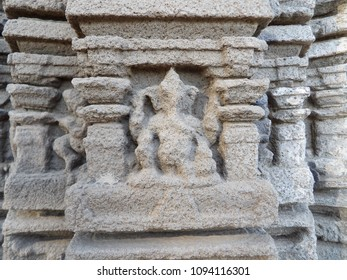 Outstanding Ganesha sculpture at 1000 year old Aishwaryeshwar temple, India