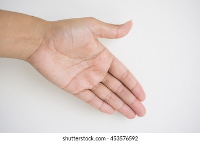 Outstretched hand gestures