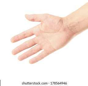 Outstretched hand gestures, isolate on white background