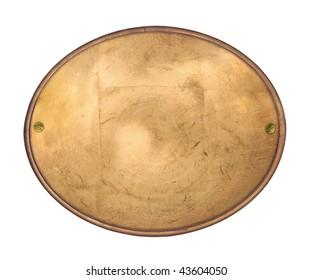 Oval copper label