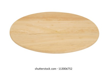 Oval cutting board isolated on white background