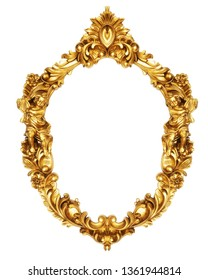 Oval Decorative Ornamental Frame with Angels