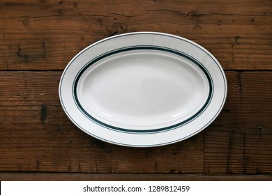 Oval dishes on the table