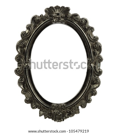 Oval Frame Isolated On White Background Stock Photo Edit Now