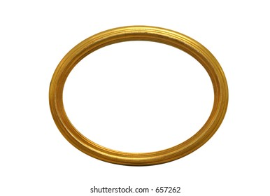 oval gold empty picture frame