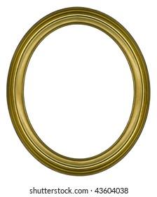 Oval golden border