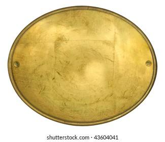 Oval golden label