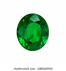 oval green emerald and gemtone