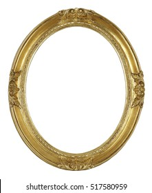 Oval Picture frame isolated on white background