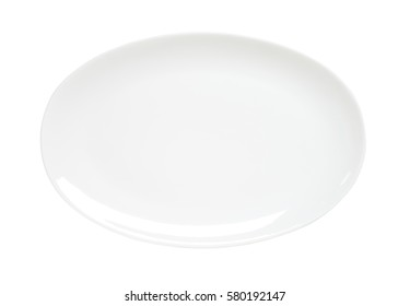 Oval plain white serving plate