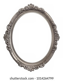 Oval silver frame for paintings, mirrors or photos