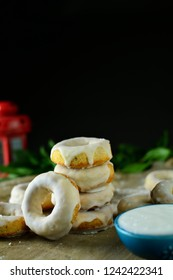 Oven Baked Doughnuts with Sugar Glaze