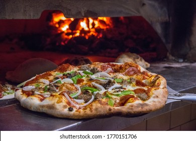 Oven Fired Pizza served piping hot