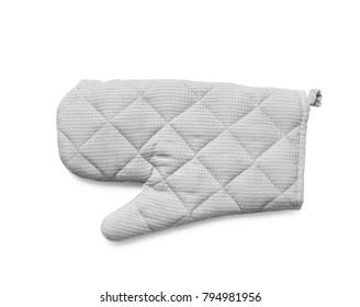 Oven glove on white background