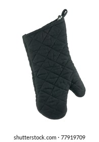 Oven mitts isolated against a white background