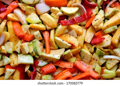 Oven potatoes with vegetables