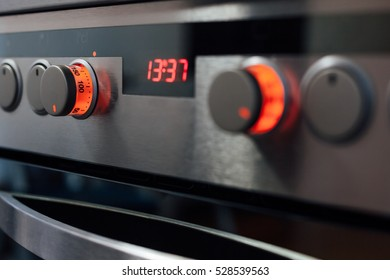 Oven is ready for baking. Adjust the temperature for baking in the oven.