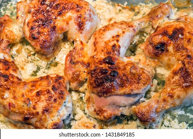 Oven roasted chicken legs garlic Mayonnaise Yogurt sause