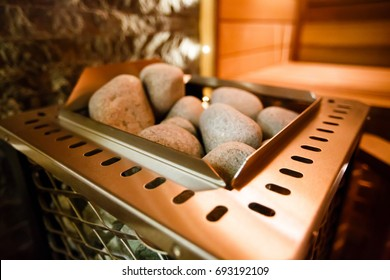 Oven in the sauna