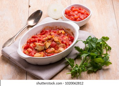 oven tofu with tomatoes sauce