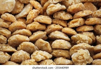 Oven-baked handmade oat biscuit cookies with sugar, flour, butter and spices on an Indian market bazaar