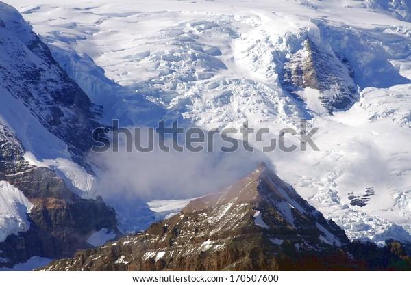 Over the highest peaks in Alaska