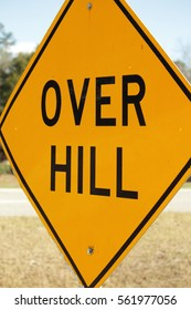 OVER HILL SIGN