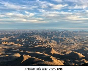 Over looking the Texas desert